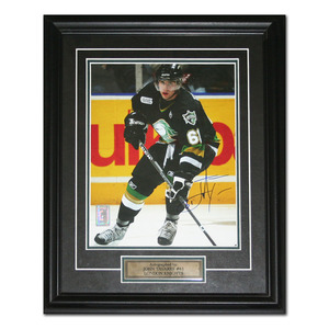 John Tavares Autographed OHL London Knights Framed 8X10 Photo (New York Islanders)