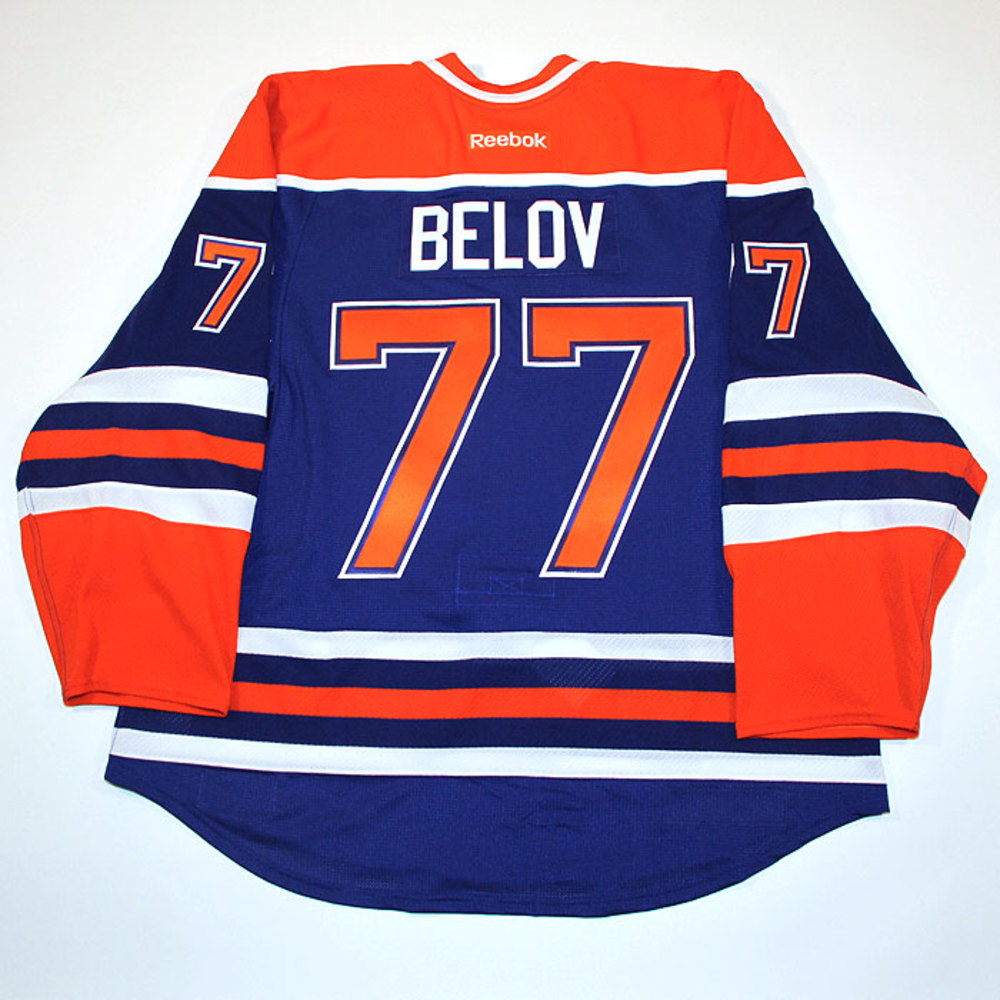 Anton Belov #77 - Autographed 2013-14 Edmonton Oilers vs Montreal Canadiens Game Worn Jersey