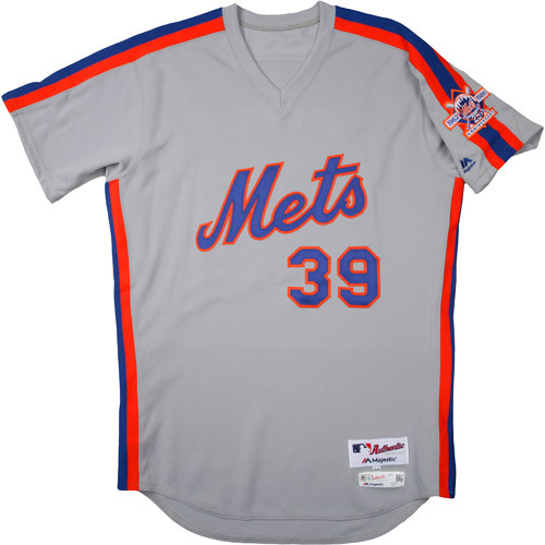 Photo of New York Mets 1986 Throwback Complete Game-Used Uniform Set - Jerry Blevins