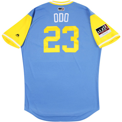 "Photo of Jake ""Odo"" Odorizzi Tampa Bay Rays Game-Used Players Weekend Jersey"
