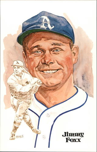 Photo of 1980-02 Perez-Steele Hall of Fame Postcards #59 Jimmy Foxx -- Set #08689