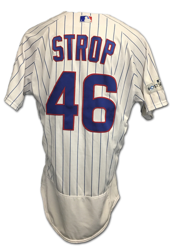 Photo of Pedro Strop 2017 Postseason Game-Used Jersey -- 10/9 vs. Nationals: NLDS Game 3