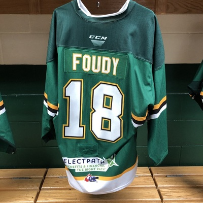 Liam Foudy Warmup Jersey