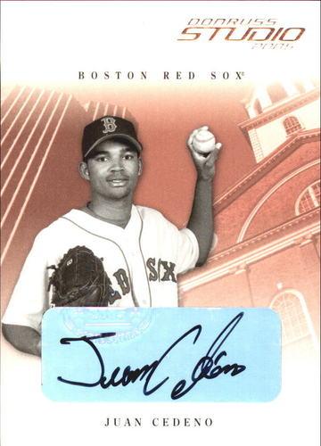 Photo of 2005 Studio Autographs #51 Juan Cedeno