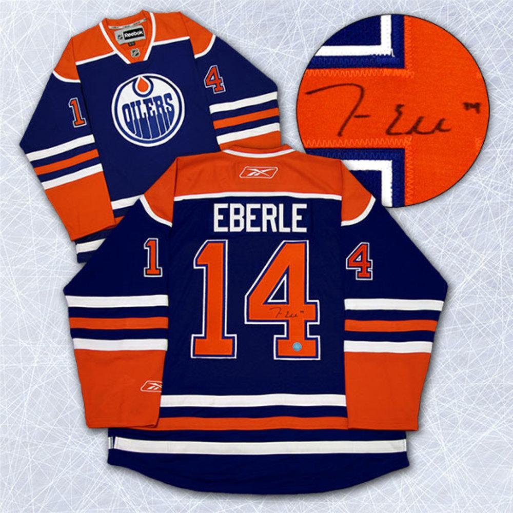 Jordan Eberle Edmonton Oilers Autographed Reebok Premier Hockey Jersey