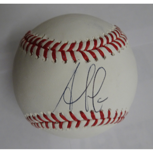 Photo of Ozzie Albies Autographed Baseball