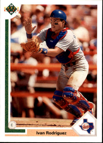 Photo of 1991 Upper Deck Final Edition #55F Ivan Rodriguez Rookie Card