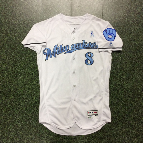 Photo of Ryan Braun 2017 Father's Day Tribute Team-Issued Jersey