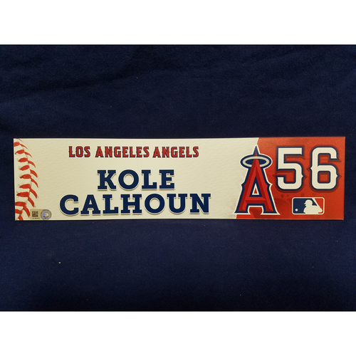 Photo of Kole Calhoun Game-Used Clubhouse Locker Tag