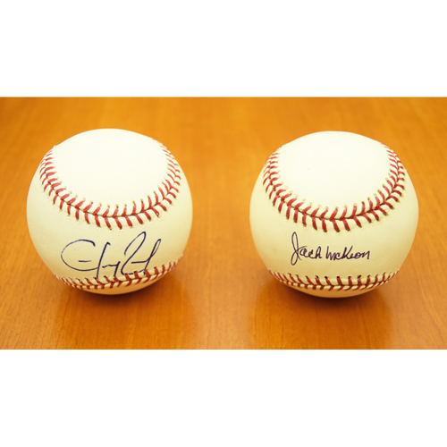Photo of Hanley Ramirez and Jack McKeon (2003 World Series) Autographed Baseball Collection (MLB Authentic)