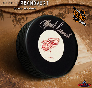 MARCEL PRONOVOST Signed Detroit Red Wings Puck