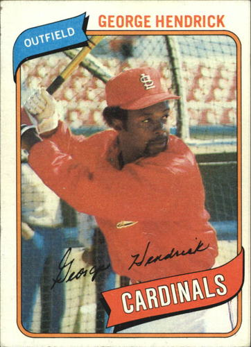 Photo of 1980 Topps #350 George Hendrick