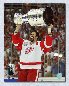 BRENDAN SHANAHAN Red Wings SIGNED 16x20 Stanley Cup Photo