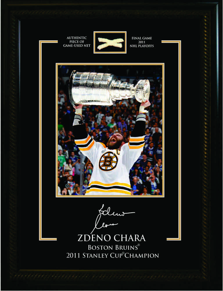 Chara,Z 8x10 Etched Mat With Stanley Cup Net