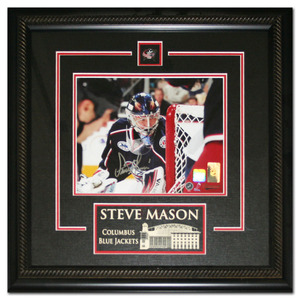 Steve Mason Autographed Columbus Blue Jackets Framed 8X10 Photo