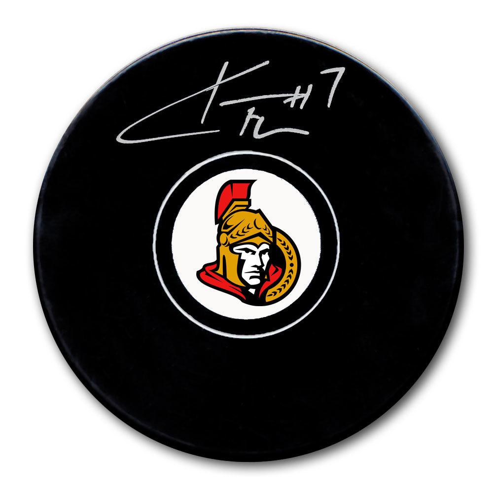 Kyle Turris Ottawa Senators Autographed Puck