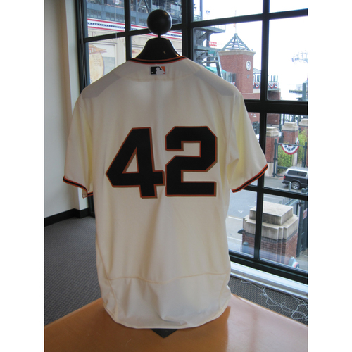 Photo of San Francisco Giants - Game Used - Jackie Robinson Day #42 Jersey - Mark Melancon