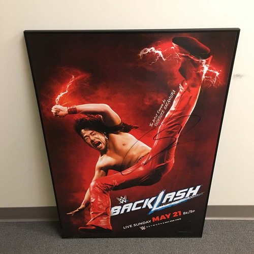 Shinsuke Nakamura SIGNED Framed BackLash Event Poster