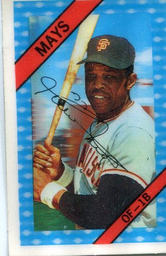Photo of 1972 Kellogg's #54A Willie Mays ERR Lifetime RBI 1855