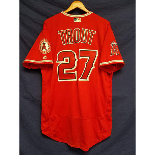 Photo of Mike Trout 2017 Game-Used Alt Red Jersey