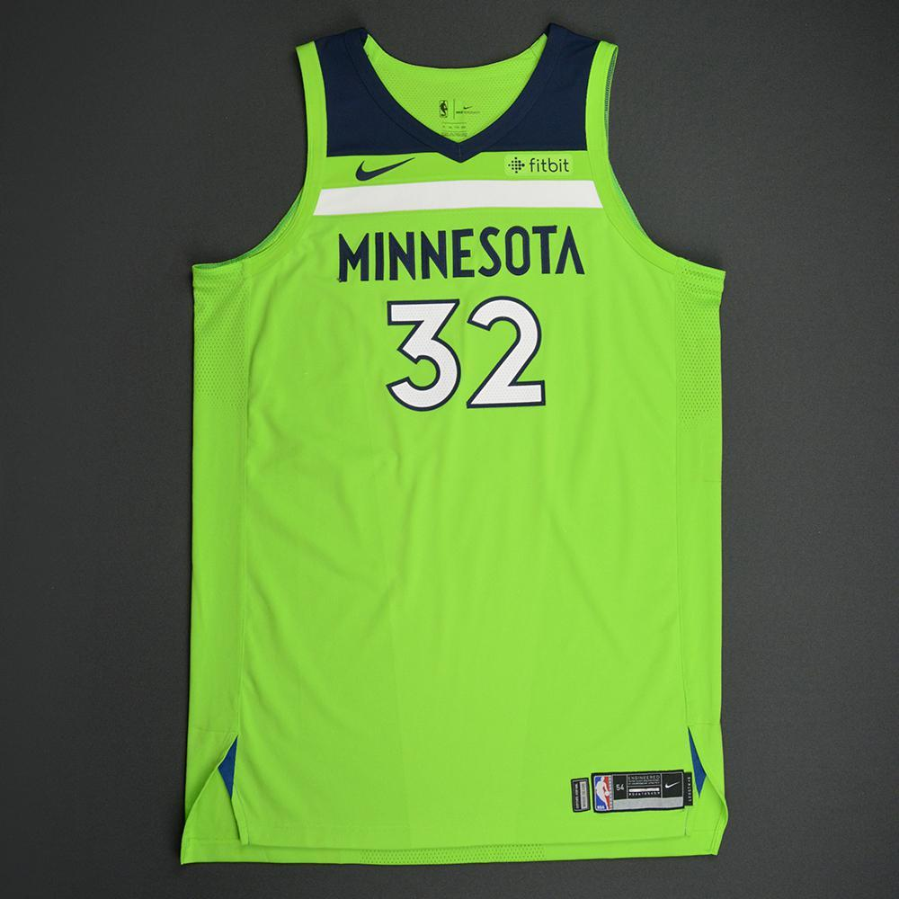 Karl-Anthony Towns - Minnesota Timberwolves - Statement Game-Worn Jersey - Double-Double - 2017-18 Season