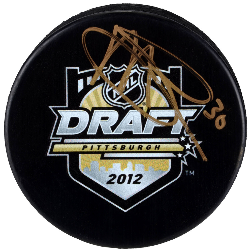 Malcolm Subban Vegas Golden Knights Autographed 2012 NHL Draft Logo Hockey Puck