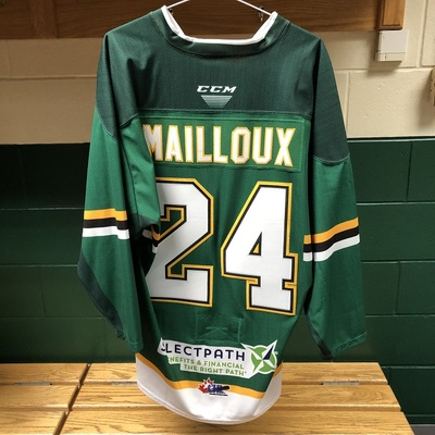 Logan Mailloux Warmup Jersey