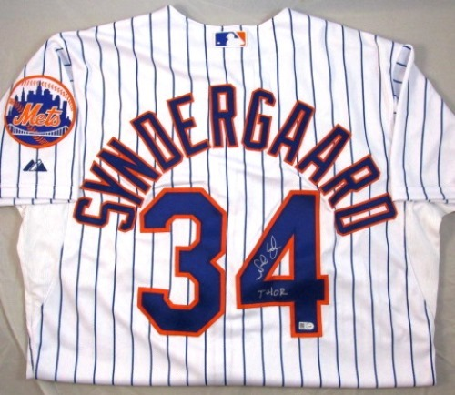 "Photo of Noah Syndergaard Autographed ""Thor"" Authentic White Mets Jersey"