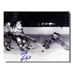 Andy Bathgate Autographed New York Rangers 8x10 Photo