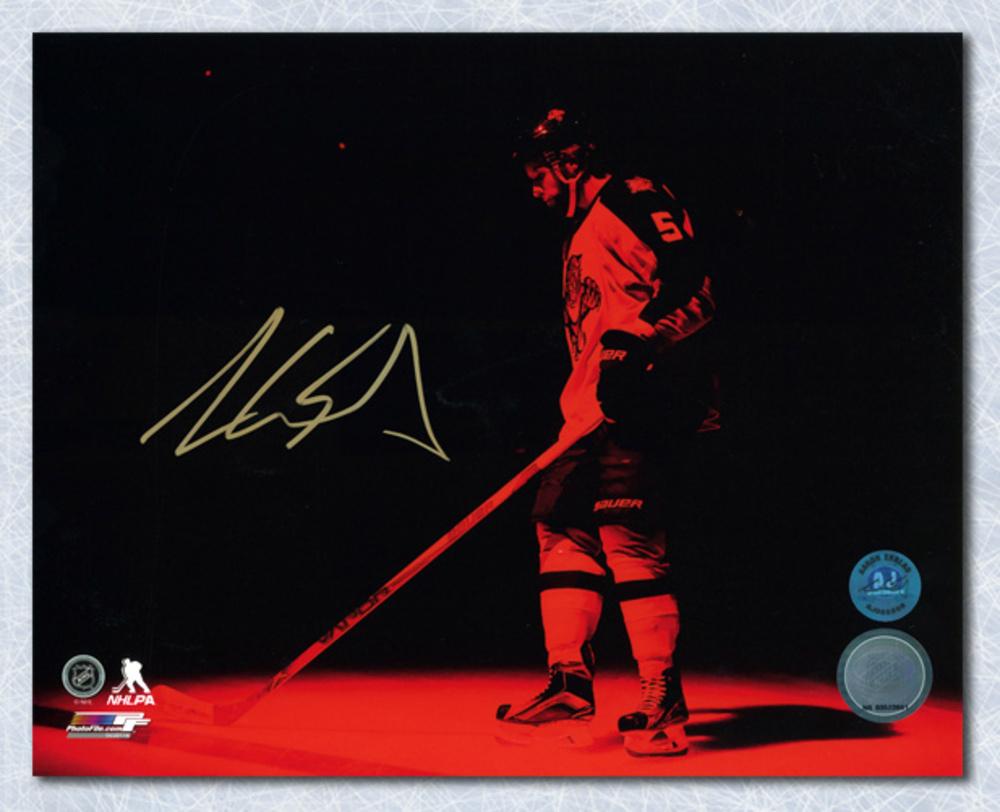 Aaron Ekblad Florida Panthers Autographed Red Spotlight Introduction 8x10 Photo