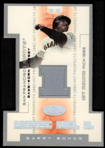 Photo of 2002 Hot Prospects We're Number One Memorabilia #BB Barry Bonds Jsy