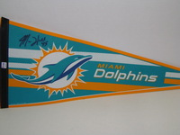 DOLPHINS - MIKE HULL SIGNED DOLPHINS PREMIUM PENNANT