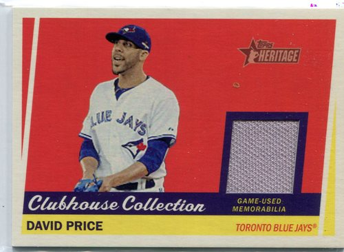 Photo of 2016 Topps Heritage Clubhouse Collection Relic David Price -- Red Sox post-season