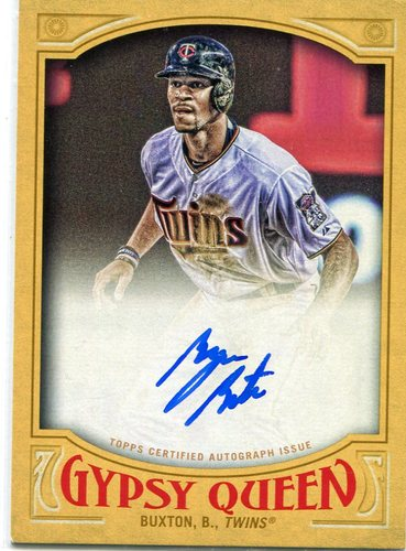 Photo of 2016 Topps Gypsy Queen Autographs Gold 22/50 Byron Buxton -- Twins post-season