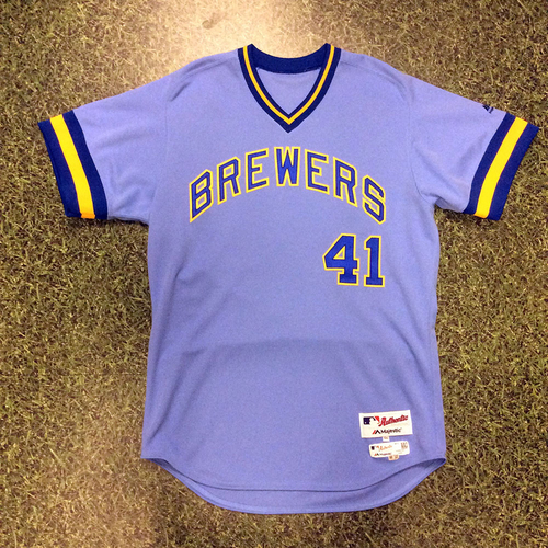 Photo of Junior Guerra Game-Used 1976 Throwback Jersey