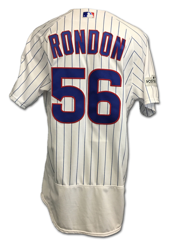Photo of Hector Rondon 2017 Postseason Game-Used Jersey -- 10/17 vs. Dodgers: NLCS Game 3