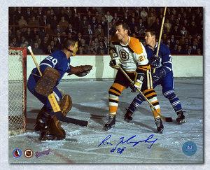 Ron Murphy Boston Bruins Autographed Vs Sawchuk 8x10 Photo
