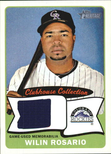 Photo of 2014 Topps Heritage Clubhouse Collection Relics #CCRWR Wilin Rosario