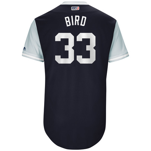 "Photo of Greg ""Bird"" Bird New York Yankees Game-Used Players Weekend Jersey"