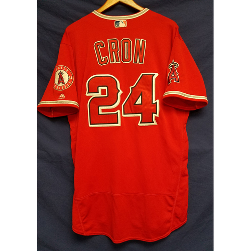 Photo of CJ Cron 2017 Game-Used Alt Red Jersey