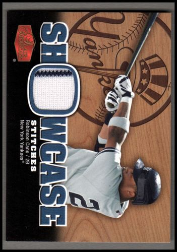 Photo of 2006 Flair Showcase Stitches #RC Robinson Cano Jsy