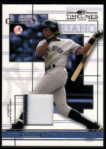 Photo of 2004 Donruss Timelines Material #4 Alfonso Soriano Jsy