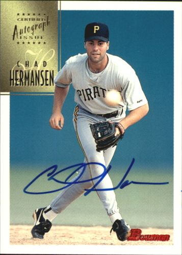 Photo of 1997 Bowman Certified Blue Ink Autographs #CA37 Chad Hermansen