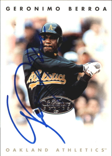Photo of 1996 Leaf Signature Autographs Silver #24 Geronimo Berroa