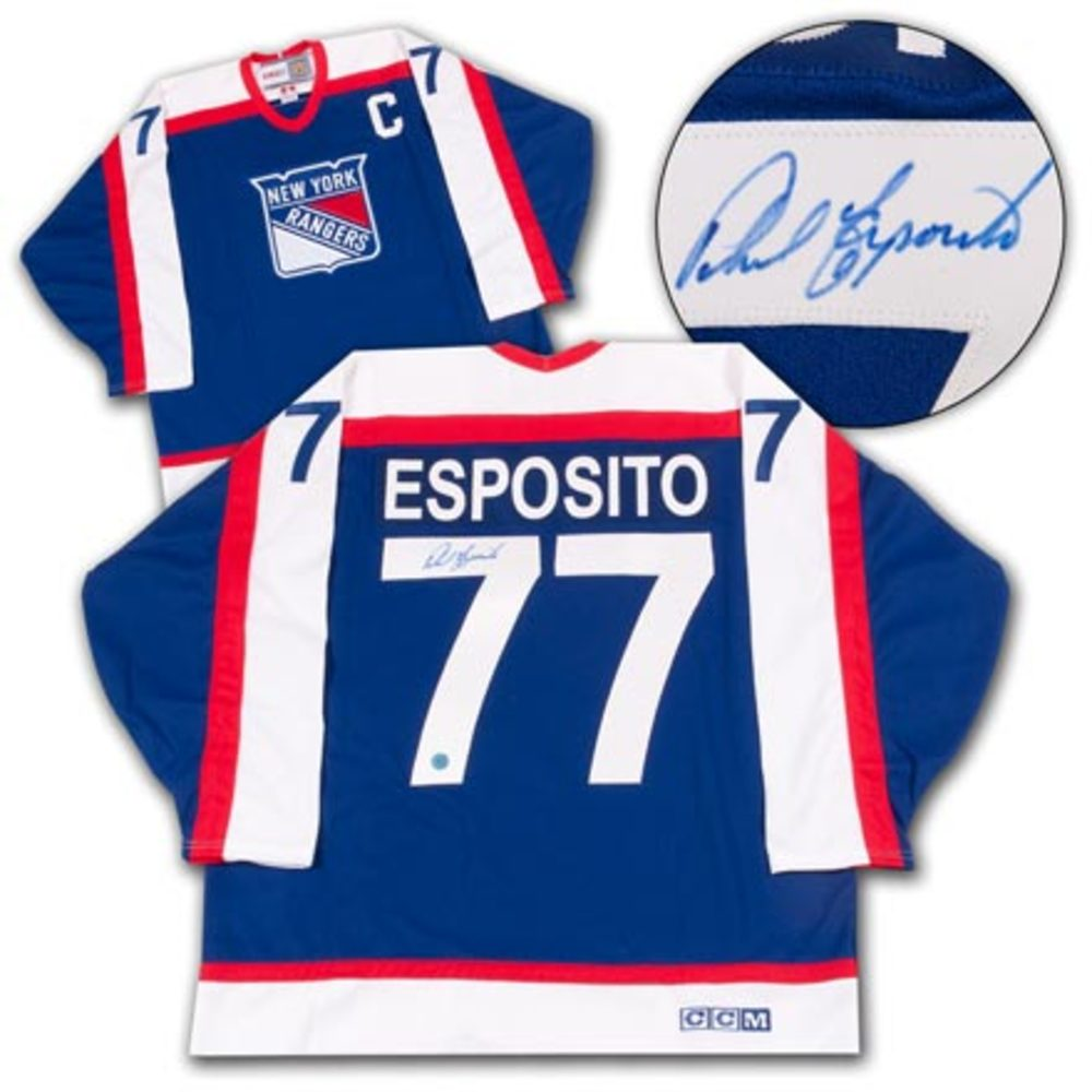 Phil Esposito New York Rangers Autographed Retro CCM Hockey Jersey
