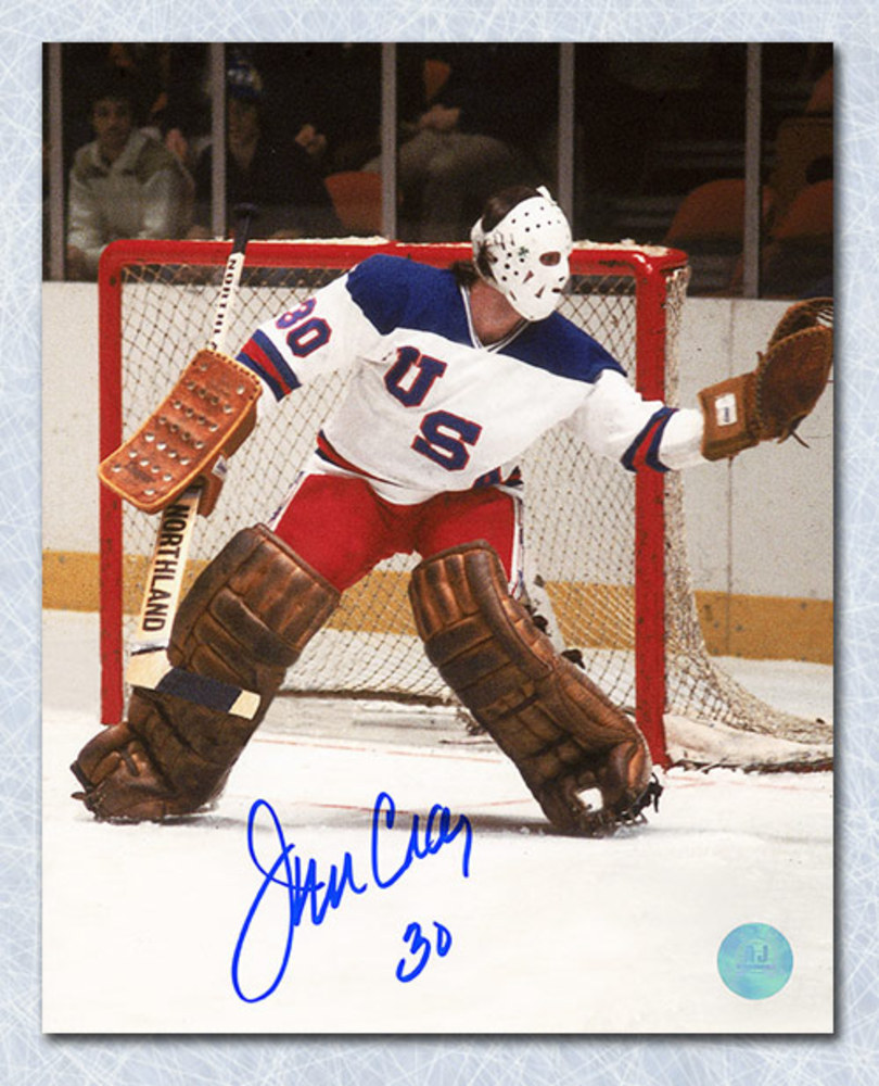 Jim Craig Team USA Autographed Olympic Miracle On Ice Goalie 8x10 Photo