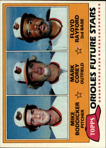 Photo of 1981 Topps #399 Mike Boddicker RC/Mark Corey/Floyd Rayford RC