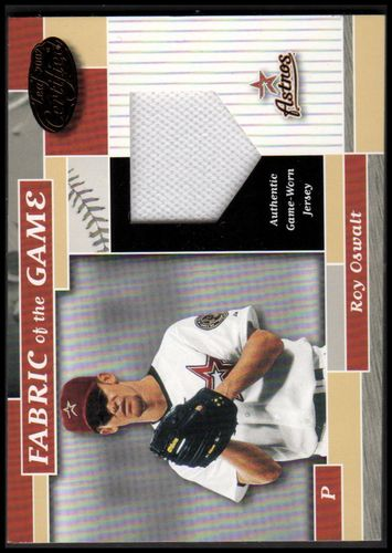 Photo of 2002 Leaf Certified Fabric of the Game #127BA Roy Oswalt/100