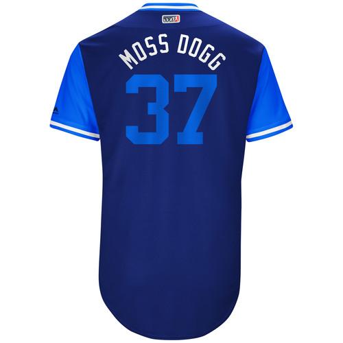 "Photo of Brandon ""Moss Dogg"" Moss Kansas City Royals Game-Used Players Weekend Jersey"