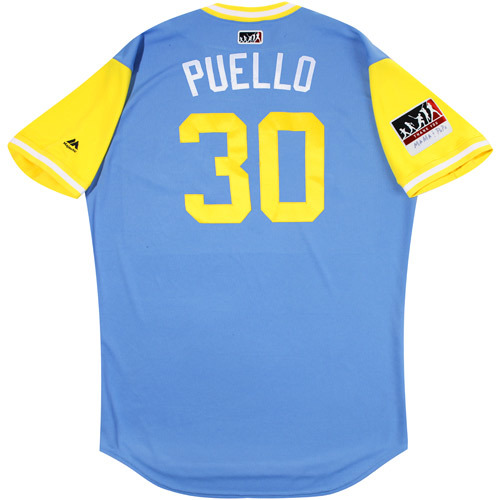 "Photo of Cesar ""Puello"" Puello Tampa Bay Rays Game-Used Players Weekend Jersey"